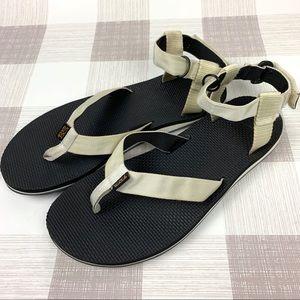 Teva Original Sandals Flip Flop Off White Sz 11
